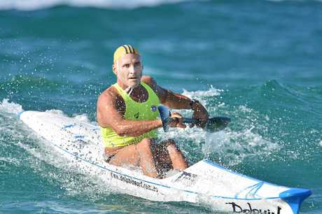 Grant Kenny claimed a stunning ironman win in the masters division at the 2017 Australian Surf Life Saving Championship.