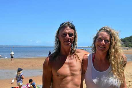 Arty and Kathy Robertson-Cipak who have spent days searching for the four missing Dianne crewmen organised a paddle out tribute and memorial for the men and their families.