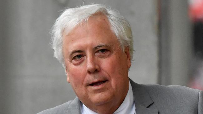 Clive Palmer leaving the Brisbane Supreme Court in Brisbane earlier this month.