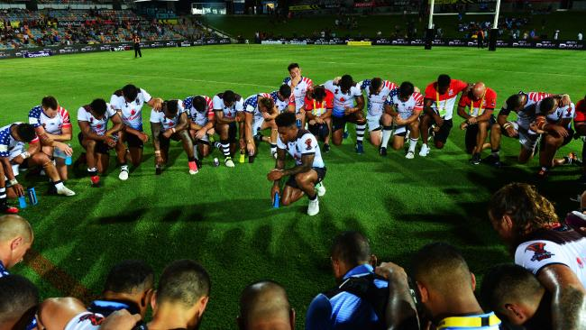 Naiqama led both teams in a prayer at fulltime.