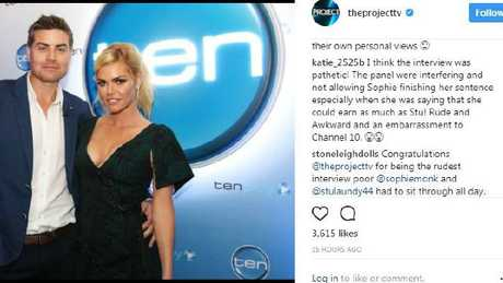 The show has received a wave of online backlash following the interview. Picture: Instagram.