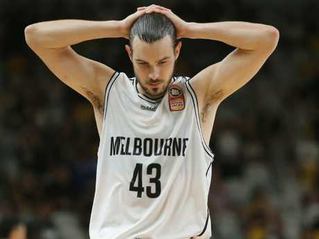 Melbourne United's Chris Goulding after missing his buzzer shot.