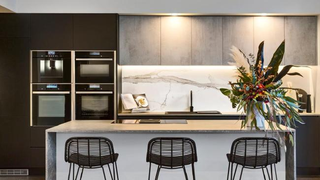 Ronnie and Georgia's kitchen is dramatic, but they admit renovating a house for The Block is different to real life, as you have to aim for a wow factor for the judges, and not just potential buyers.