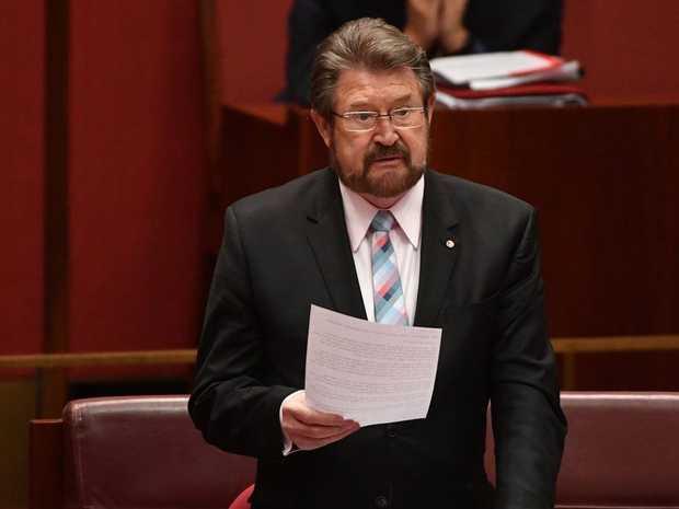 Senator Derryn Hinch was at Coen Ashton's funeral on Saturday.