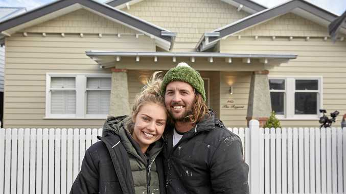 Josh and Elyse are the favourites to take out The Block's grand prize when their renovated Elsternwick home goes under the hammer this weekend. Supplied by Channel 9.