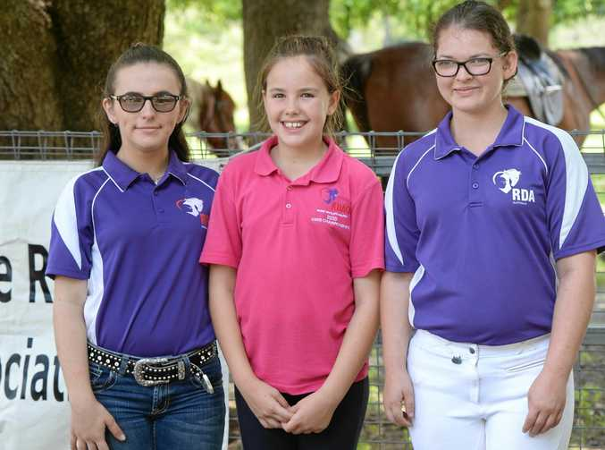 Riding for the Disabled's Sara Rukavina, Elle Bloomfield and Shelby Davis-Hill.