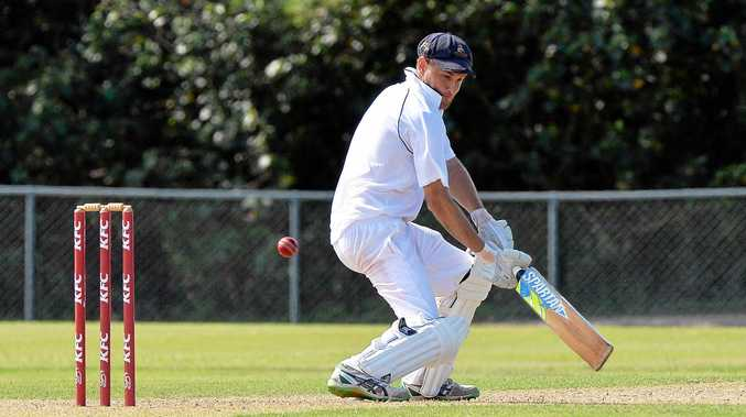 CLOSE TUSSLE: Adam Thornton bats as Maroochydore and Nambour faced off in a tight match.