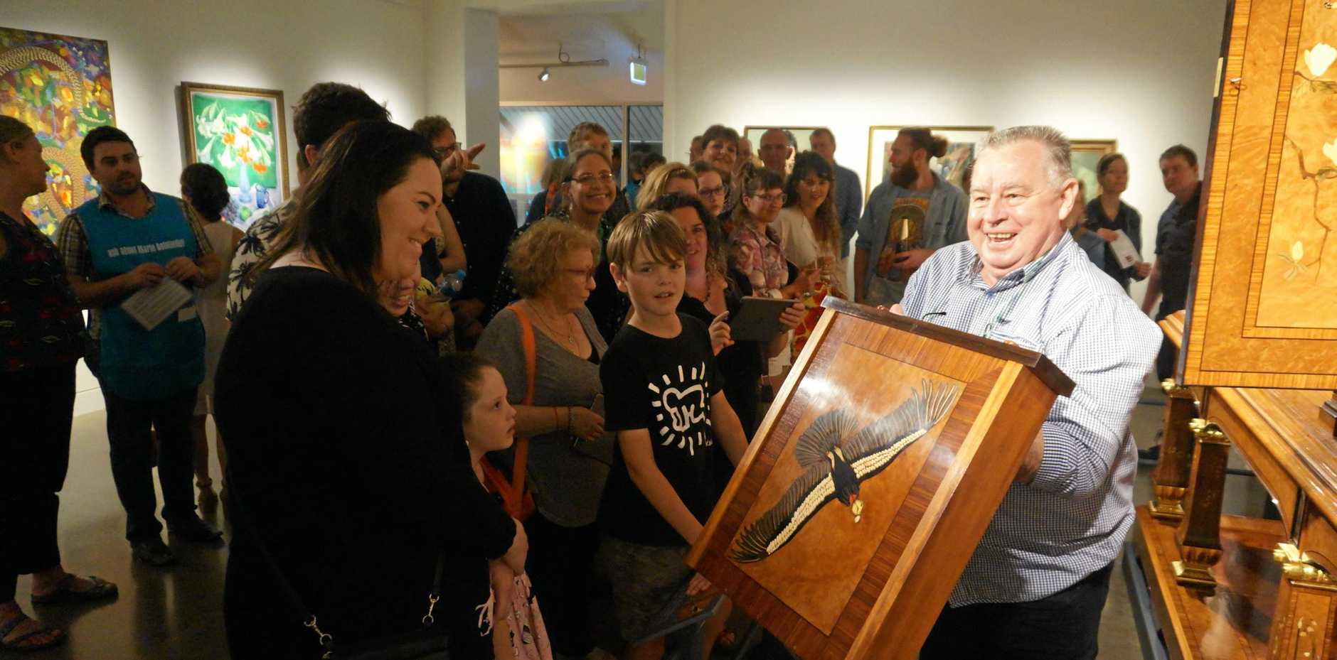 Lismore Regional Art Gallery crowds on opening night.