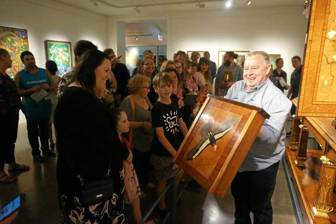 Lismore Regional Art Gallery crowds on opening night.