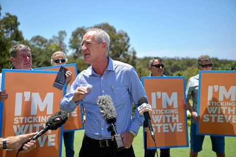 One Nation MP Steve Dickson and Member for Buderim holds a press conference at the Headland Golf Club responding to the announcement of the Queensland State Election date on November 25, 2017.