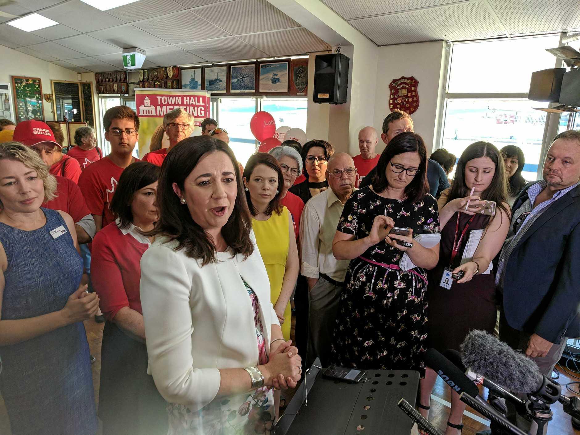 Premier Annastacia Palaszczuk launches the 2017 election campaign at a Darra bowls club,