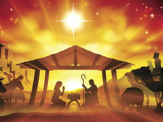The Nativity scene is a popular symbol of Christmas.