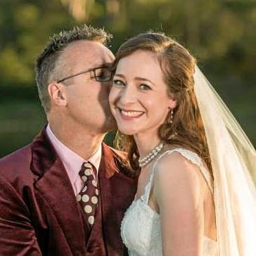 HARD WORKER: Sharna Clemmett on her wedding day.