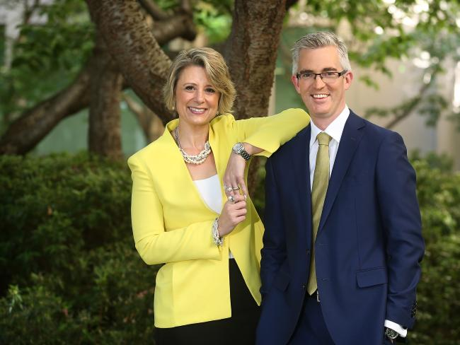 Sky News presenters Kristina Keneally and David Speers will lead the network's extensive investment in new programming for 2018. Picture: Kym Smith