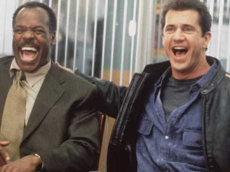Glover and Gibson in a season from Lethal Weapon 4. Picture: Supplied.