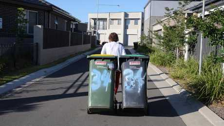 Residents and garbage collectors are having problems with the narrow lanes in new housing estates such as the Thornton Project in Penrith. Picture: John Grainger