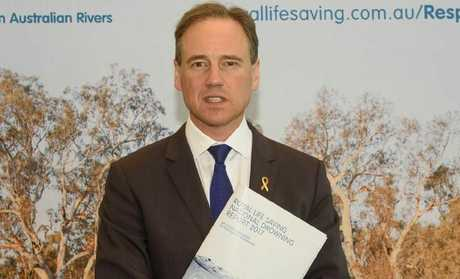 Federal Minister for Health and Sport Greg Hunt. Picture: Irene Dowdy