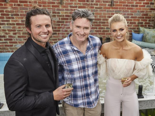 Josh and Elyse with Dave Hughes.