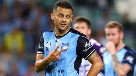 Bobo slotted a penalty to help Sydney FC past Perth Glory. Picture: Getty Images