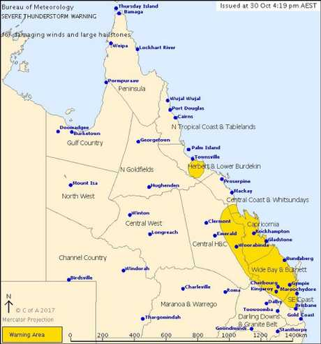 BoM has issued a severe weather warning.