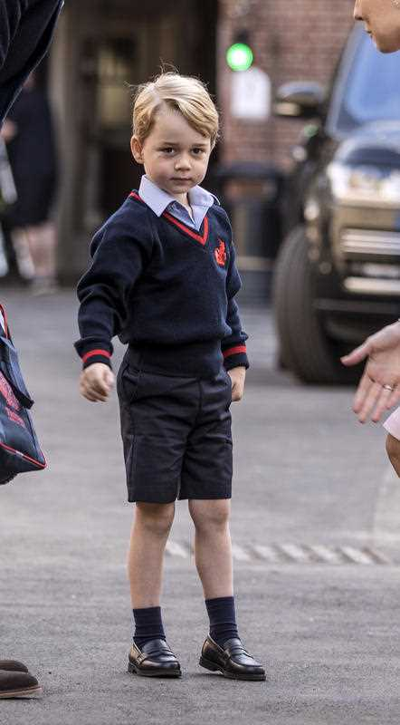 Prince William's pregnant wife Kate was too ill with morning sickness Thursday to take young Prince George to his first day of school.