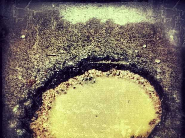 LARGE HADRON POTHOLES: The future, past and present meet in their depths.