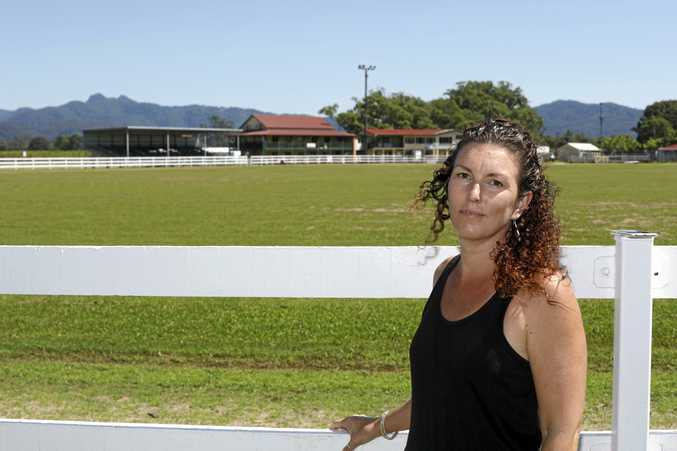 HELP OUT: Peita Gardiman at the Murwillumbah Showgrounds, where they are preparing for the 117th Murwillumbah Agricultural Show.