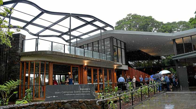 AWARD WINNER: Opening of the new education centre at the Mary Cairncross Reserve.
