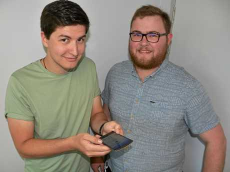 Rhys Walsh-Tindall and Ben Gilloway were part of the team that created Ask Borobi, which was awarded at this year's Gov Hack event.