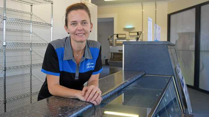 Kylie Edwards ahead of the opening of the new Alcorn's Bakery shop at the corner of Oak St and Central Dr in Andergrove.