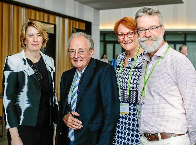 FORUM: (From left) Lea Diffey (Queensland DSITI), Prof John Lovett (PBCRC), Jenny Cobon (APPS), and Tony Steeper (PBCRC).