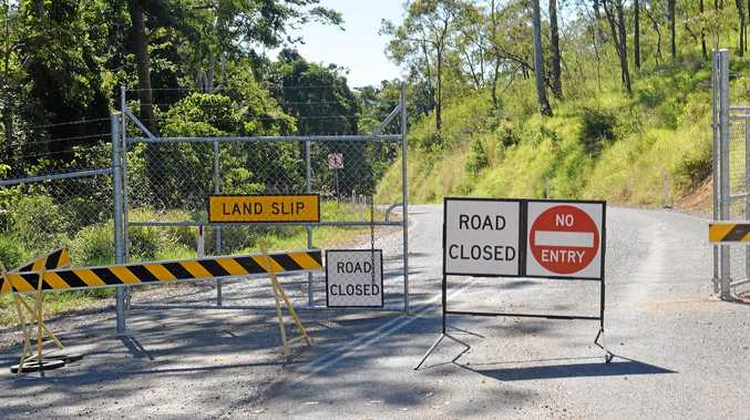 Access up Sarina Range road is still off limits for residents.