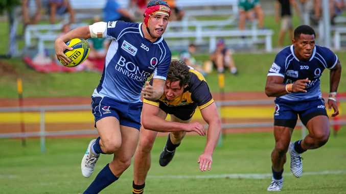 Former Toowoomba Grammar student Hamish Stewart plays for Queensland Country in their final National Rugby Championship round game against Perth Spirit in Ipswich on Sunday.