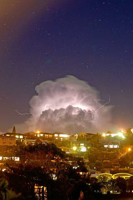 Photos from the electrical storm in Coffs last night.