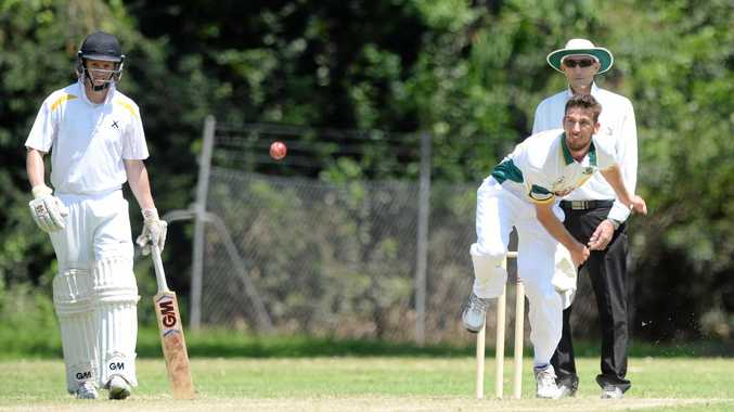 GOOD SPELL: Gracemere's Bryce Heal tears in against The Glen in the Capricornia Challenge game at the Rockhampton Cricket Ground on Saturday.