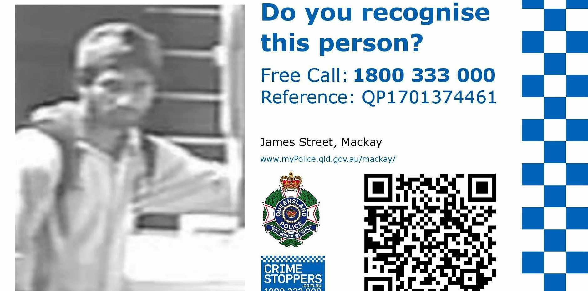 A person being sought after by police.