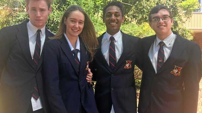 END OF YEAR SUCCESS: Celebrating their awards for 2017 are Mount Lofty students (from left) Patrick Gellatly, Lucy Ribbe Kelso, Richard Murray and Daniel Anderson.
