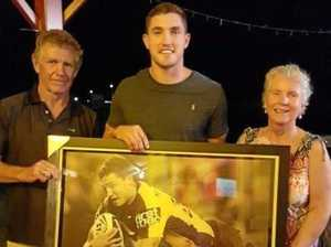 CQ Broncos star surprises hometown pub with stunning gift