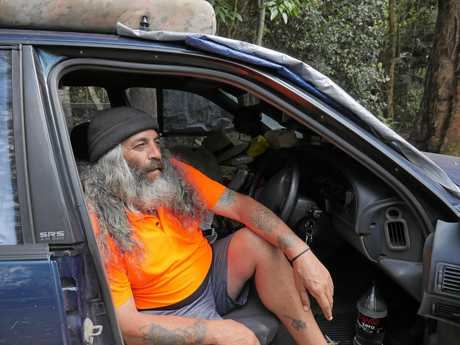Craig Thuma is living out of his car stacked with tinned food and noodles.