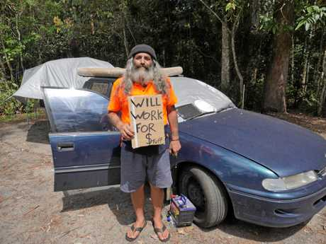 Craig Thuma's $500 Holden station wagon is his home.