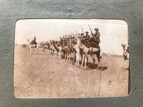 Many of the photographs taken during World War I show the Imperial Camel Corps.