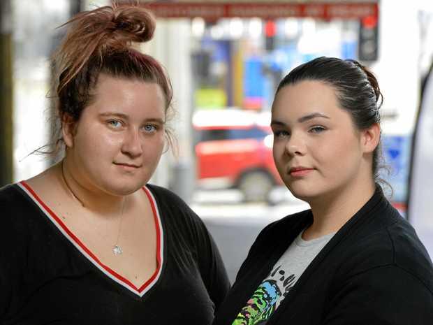 FAIR GO: Ipswich teens Jemma Evans, 18 and Tahlia Elliot, 17 left high school before finishing year 12.