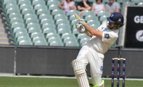 Daniel Hughes pulls for four during his first-innings half century.