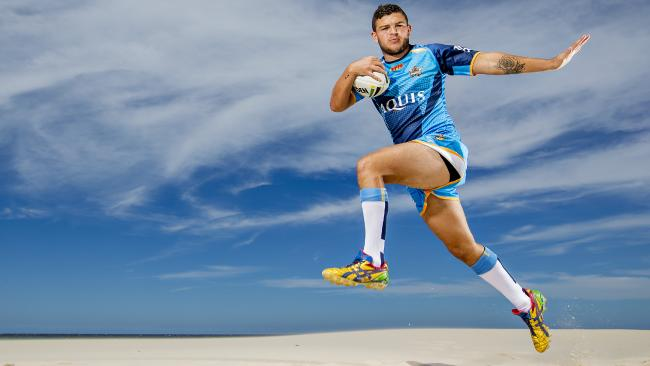 The re-signing of Ash Taylor to a three-year extension is expected to be a positive for consortiums looking to buy the Titans licence from the NRL. Picture: Jerad Williams