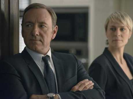 Kevin Spacey and Robin Wright in season 2 of Netflix's House of Cards. Picture: Nathaniel Bell