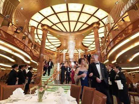 Formal nights on-board Queen Elizabeth cruise ship.