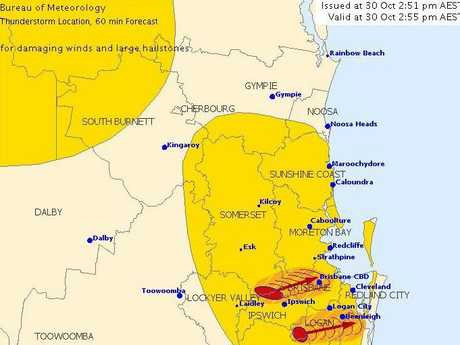 A storm warning is active for the Sunshine Coast.