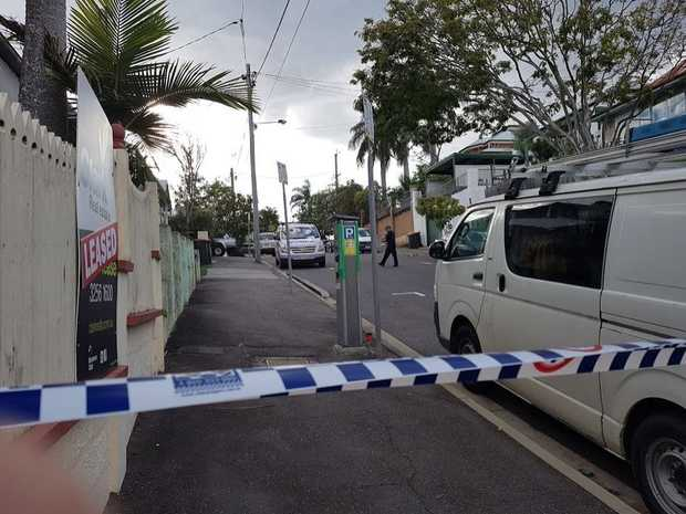 Police are still outside the scene of an alleged shooting in Woolloongabba.