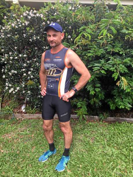 Glenn in their new Allez Sport tri suit.