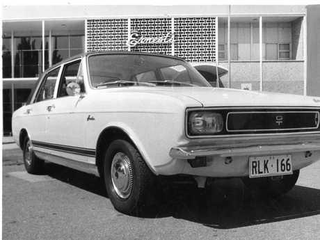Hillman Hunter GT motor car, pictured outside Ernest's restaurant at the River Torrens weir, Adelaide.  Used
